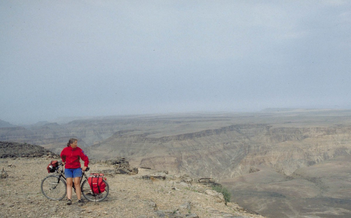 looking down the Fish River Canyon