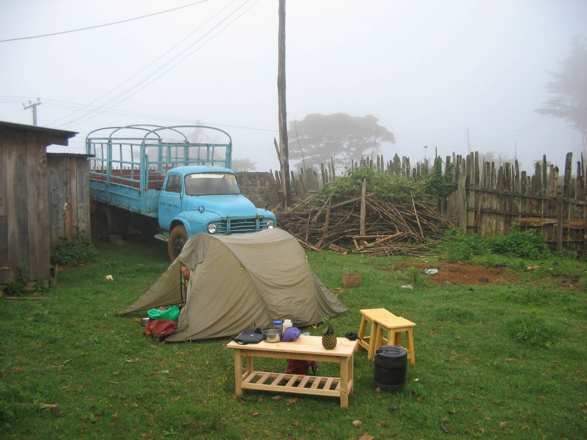 free camping at the Muoro sawmill in Gakoe or...