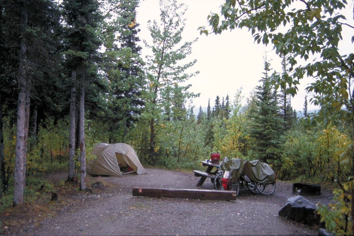 Typical State Park campground at Donelly Creek