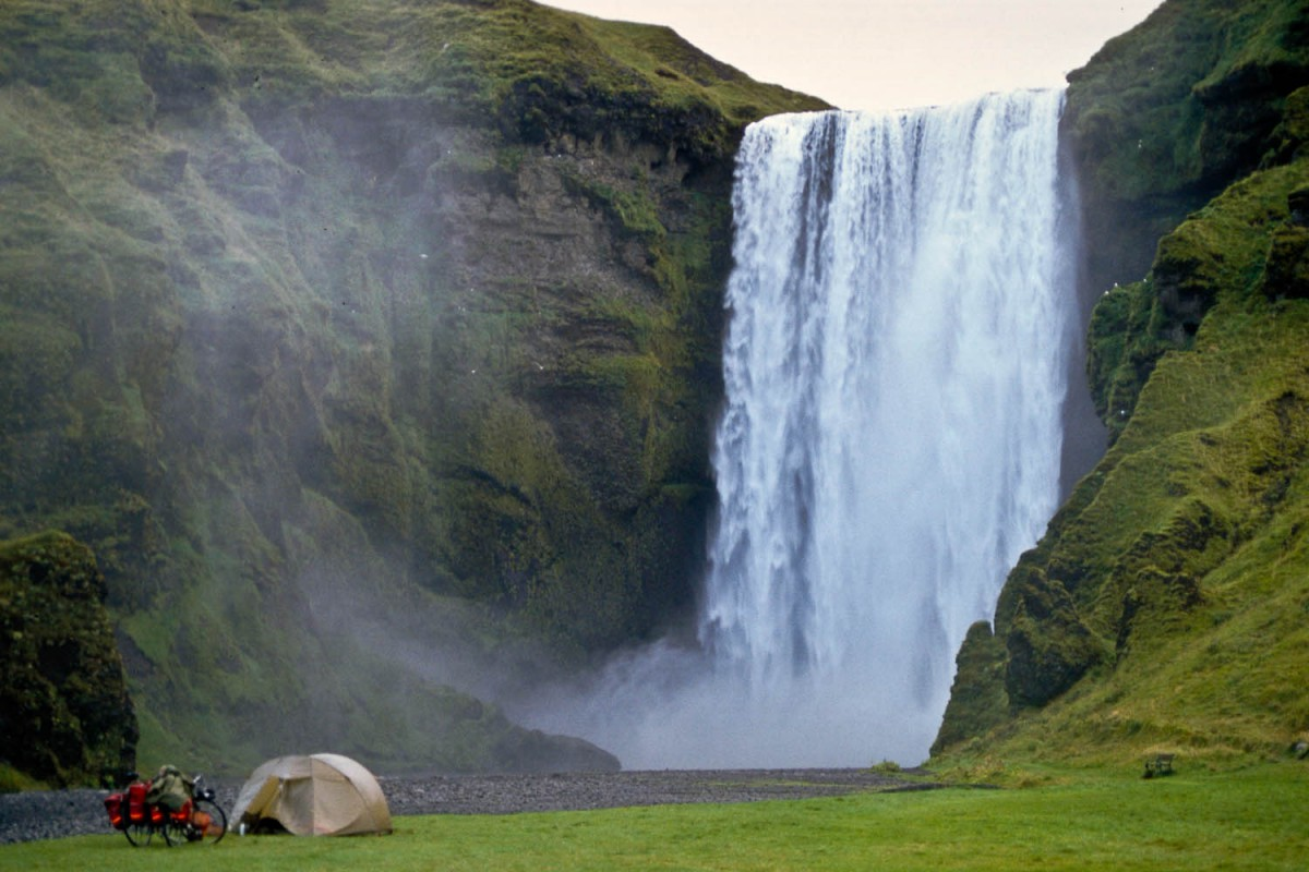 camping at Skogarfoss