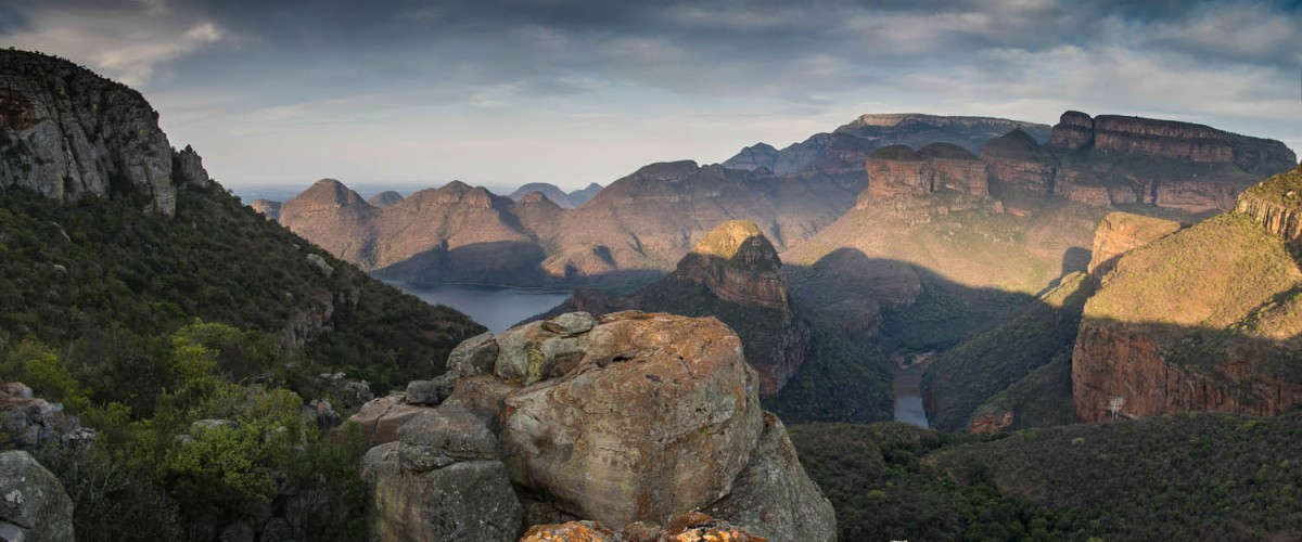 Panoramic view into the Blyde River Canyon
